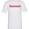 T shirts Hvid med roed tekst Danmark 1 scaled e1622098667682