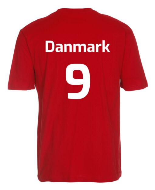T shirts Roed med hvid tekst EM2021 lille scaled e1622099662659